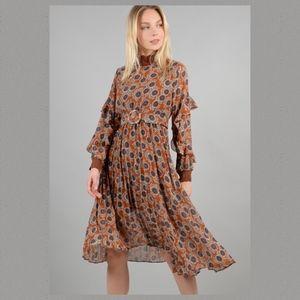 Angelique's Atelier Dresses - Boho 70's Midi Dress